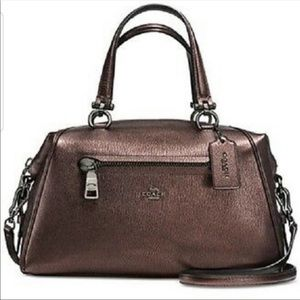 Coach Primrose Bronze Pebbled Leather Bag (Flaws)